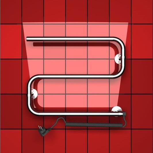 Электрический s образный полотенцесушитель Двин.