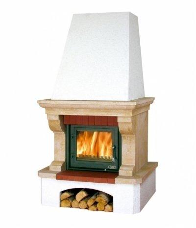 Готовый дровяной комплект Abx Glasgow Klasik, белый цоколь BP