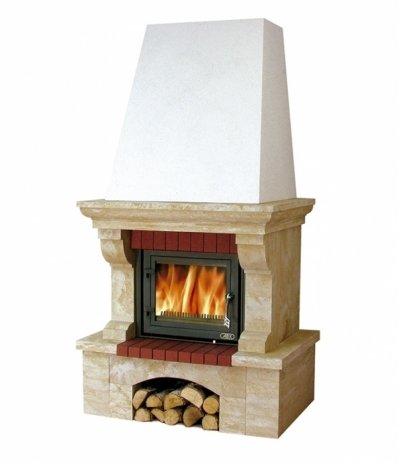 Готовый дровяной комплект Abx Glasgow Klasik цоколь песчаник BP