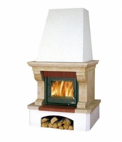 Готовый дровяной комплект Abx Oxford Klasik, белый цоколь BD