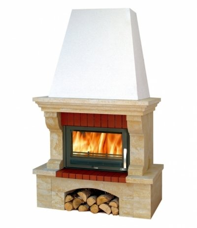 Готовый дровяной комплект Abx Oxford Klasik цоколь песчаник BP