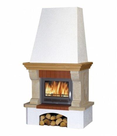 Готовый дровяной комплект Abx Preston Klasik, белый цоколь BD