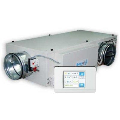 Приточная вентиляционная установка 1000 м3ч Breezart 1000 Mix 2,25 - 220/1