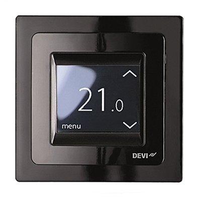 Терморегулятор для теплого пола Devireg Touch c датчиком пола и воздуха (Черный)
