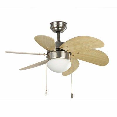 Вентилятор с подсветкой Faro PALAO NIQUEL MATE