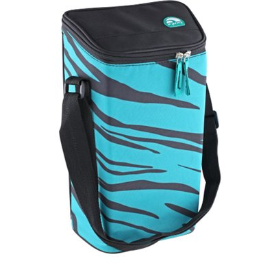 ���������������� Igloo 2 Bottle Wine Tote 16 teal-zebra