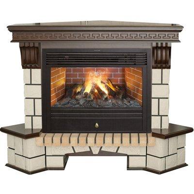Электрокамин очагпортал Real-flame Stone New Corner 26 с очагом 3D Novara 26