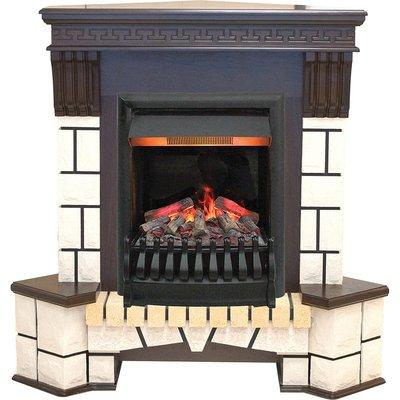 Real-flame Stone New Corner с очагом 3D Oregan