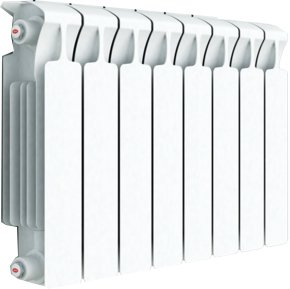 Биметаллический радиатор Rifar Monolit Ventil 350/8 секц. MVR