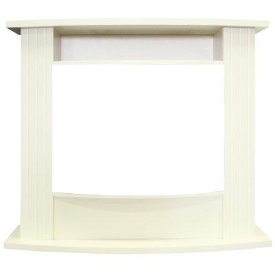 Деревянный портал Royal flame Madison белый под очаг Panoramic 25 LED FX