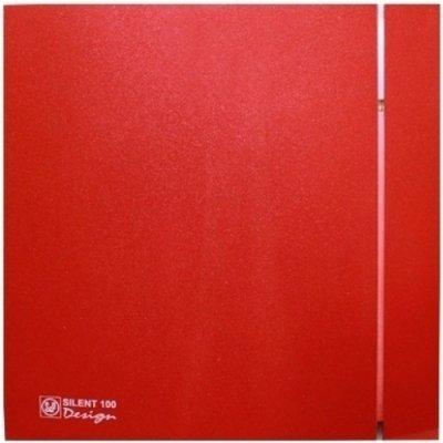 Вытяжка для ванной Soler & palau SILENT-100 CRZ RED DESIGN-4C (230V 50)